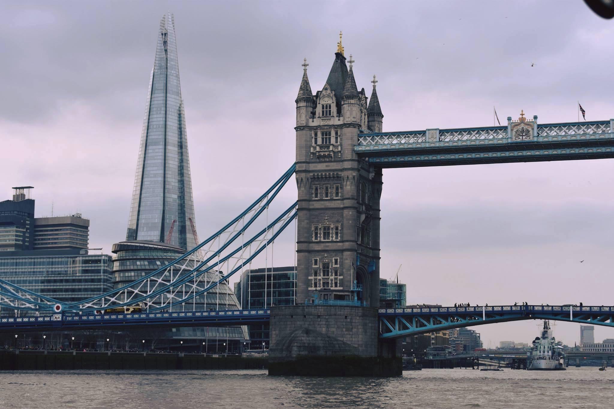 Shard and Tower Bridge London