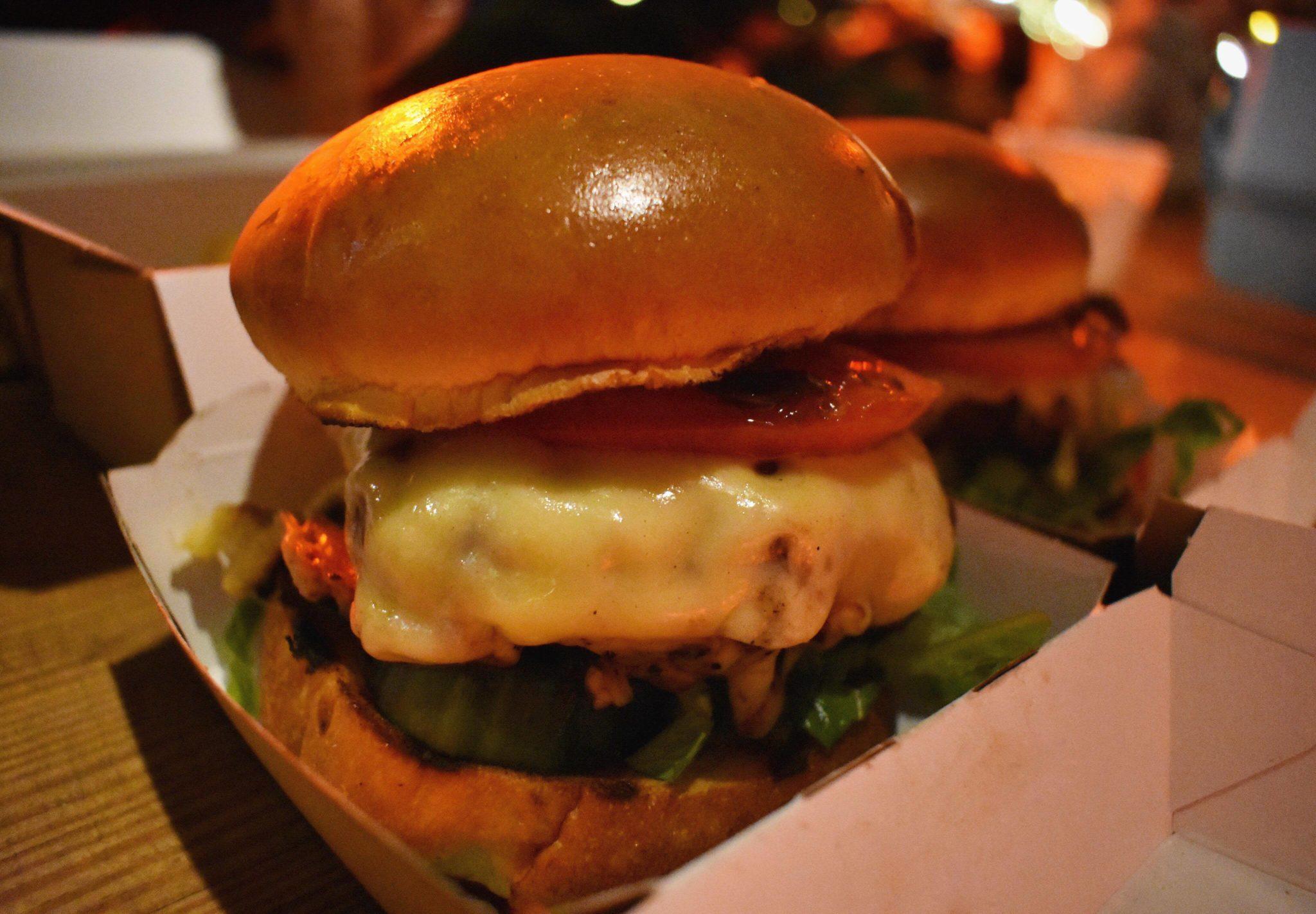 Raclette Burger at Winterland Fulham London