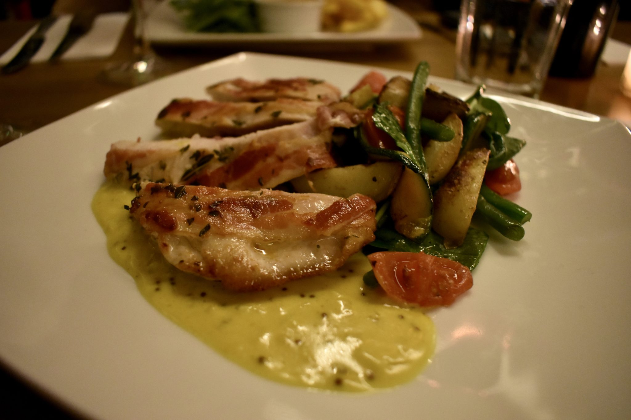 Chicken and Veg at The Fulham House, London