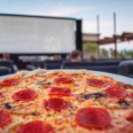 Pizza at Moonlight Cinema, Maspalomas Beach