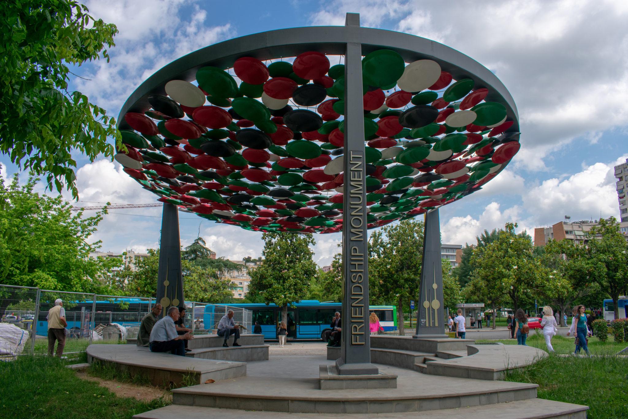The Friendship Monument, Tirana, Albania