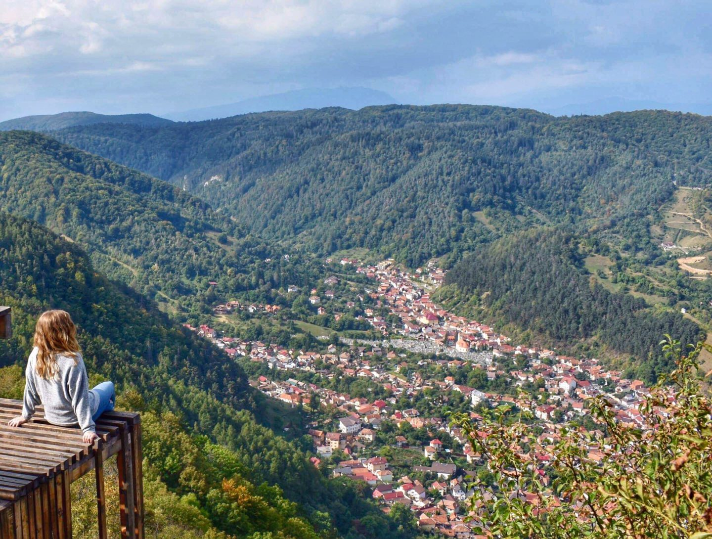 Top Things to do in Brasov Romania, 2 days in Brasov Romania, View over Brasov from Mount Tampa