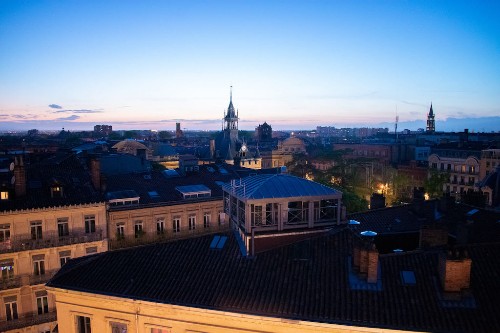 Where to eat in Toulouse, Ma Biche Sur Le Toit - views across the city from the terrace