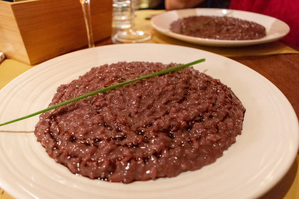 Best restaurants in Verona Italy - Risotto all'Amarone