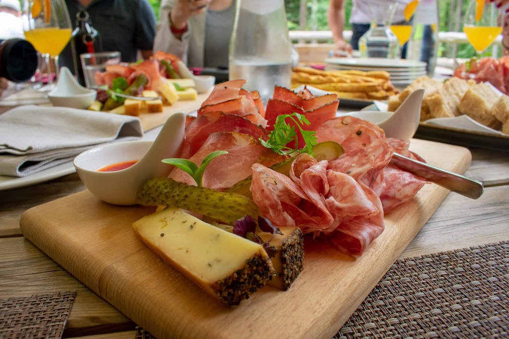 Visit Trentino Italy - platter of cheese and cured meats