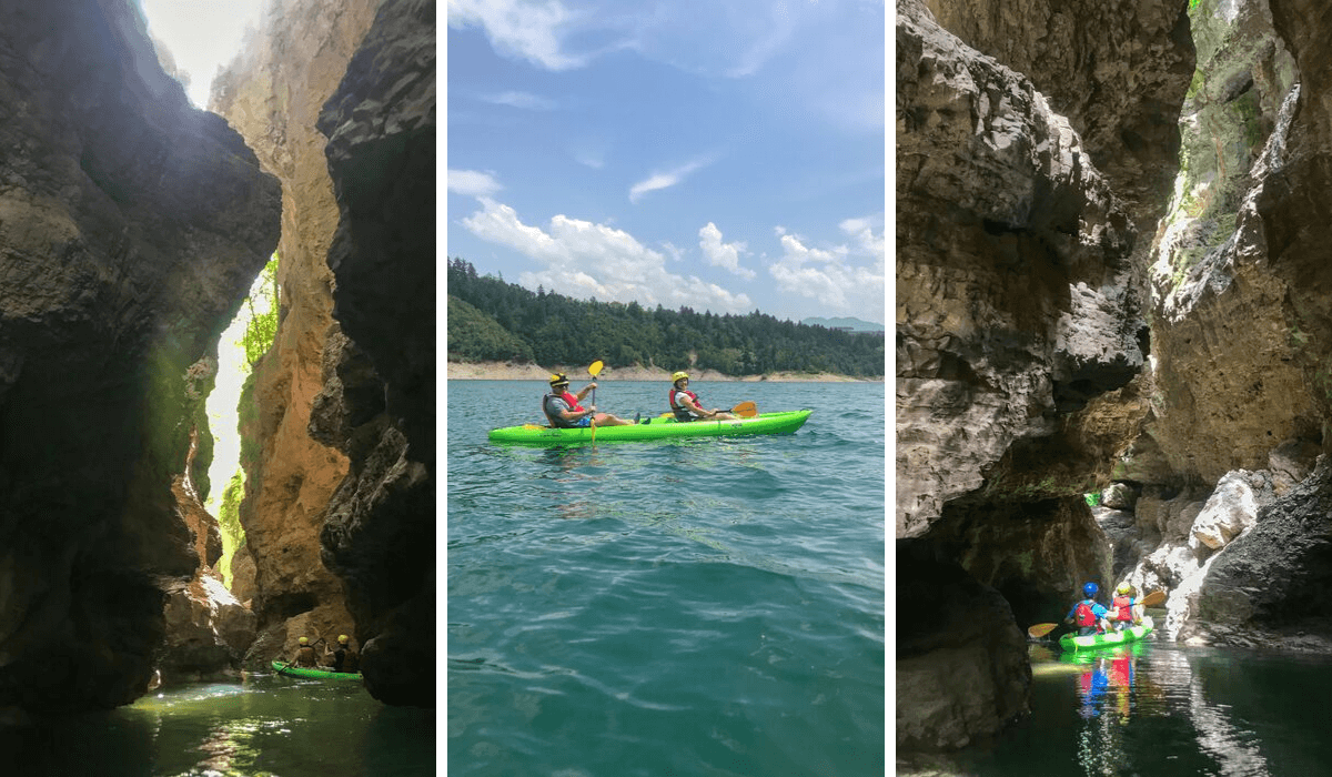 Visit Trentino Italy - kayaking in caves