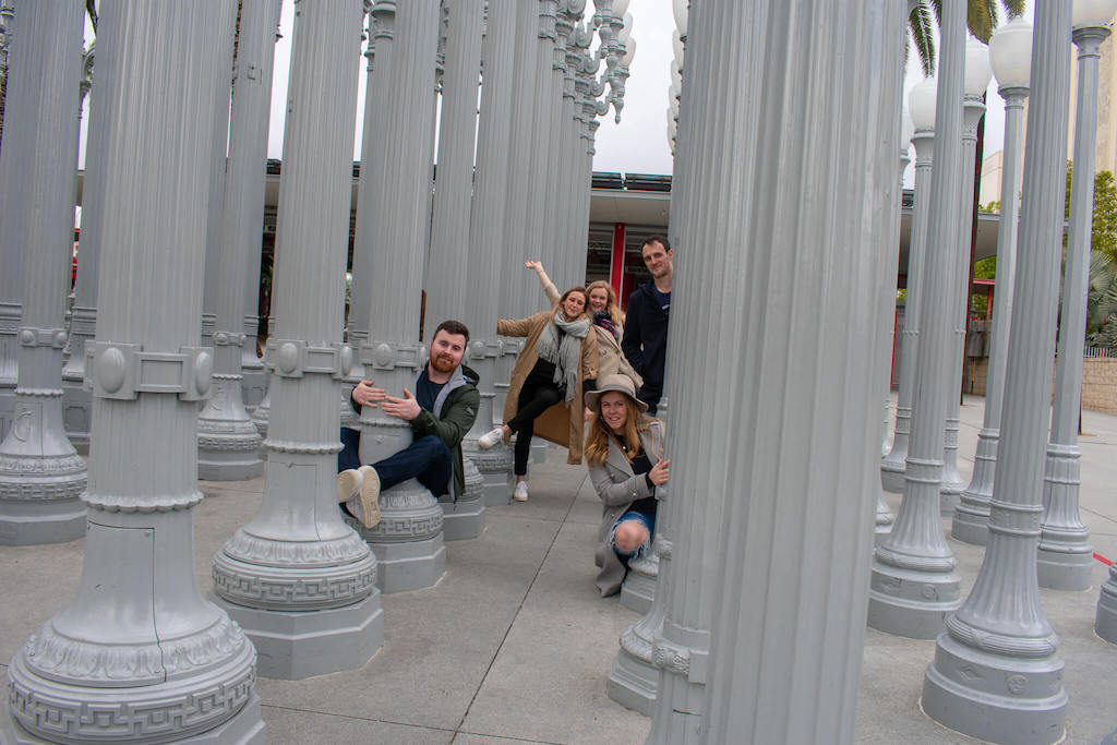 Areas of LA - Urban Light installation at LACMA