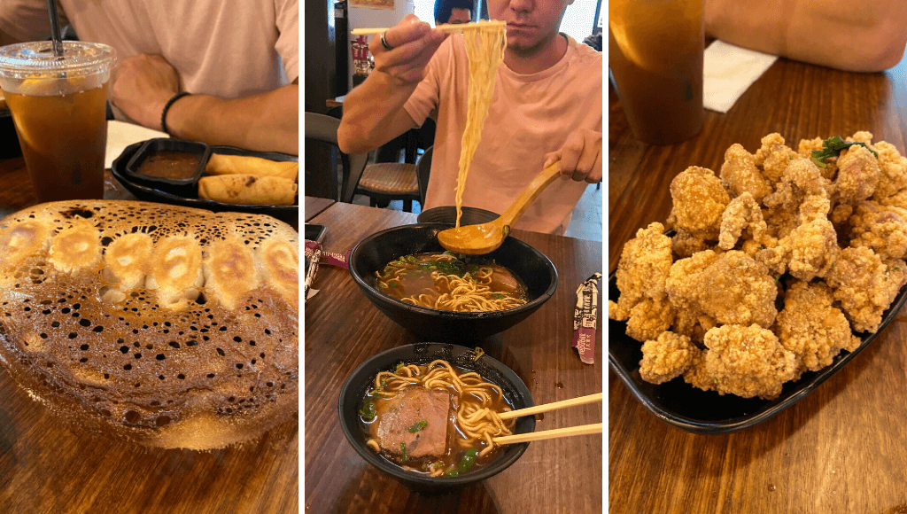 Dumplings, fried chicken and noodle soup in Box Hill Melbourne