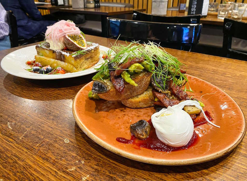 Avo Toast and Nutalla French Toast in Melbourne