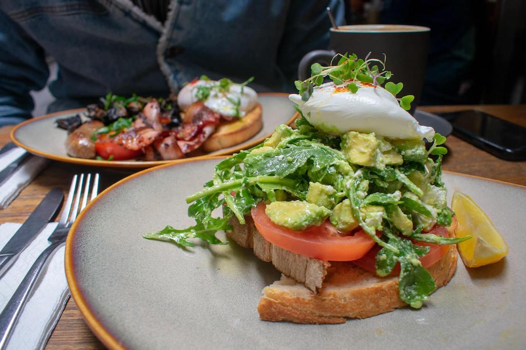Melbourne Laneways Brunch Avo on Toast