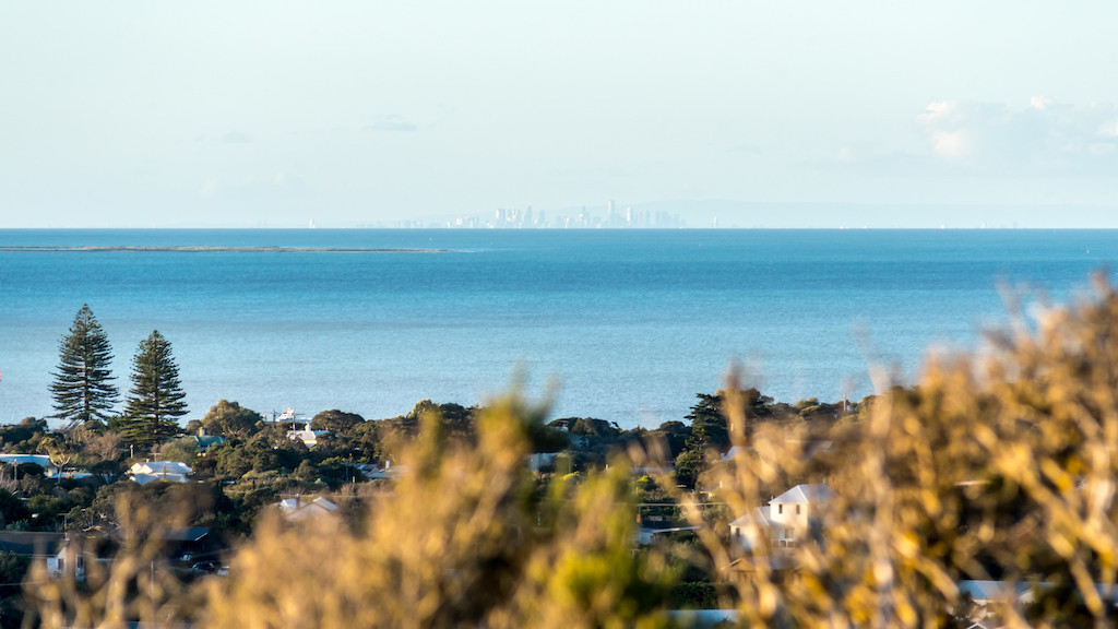 Mornington Peninsula View to Melbourne Victoria Australia