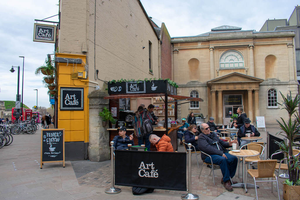 Outside Terrace of the Art Cafe Oxford