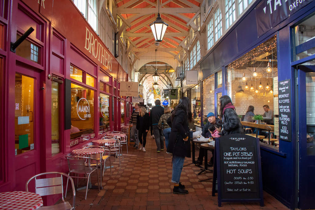 Traders in Oxfords Covered Market