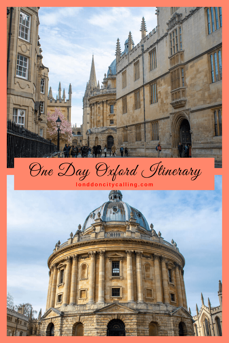 One day in Oxford UK PIN