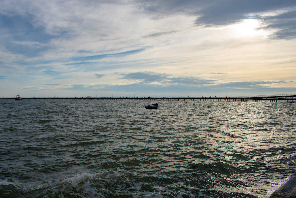 Coastal weekend trips in the UK, Southend Pier going out far to sea at sunset