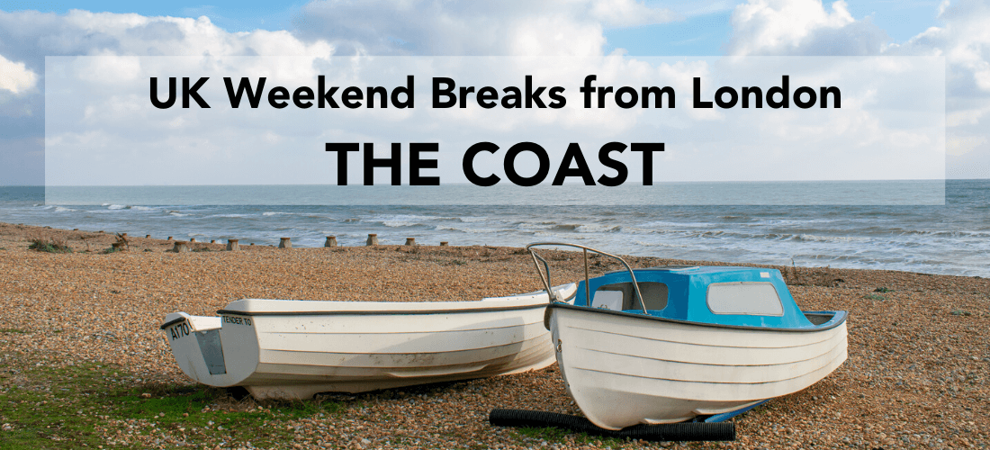Coastal weekend Trips in the UK - the coast - two boats by the ocean