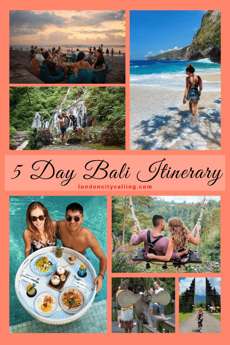 5 day Bali Itinerary Pin