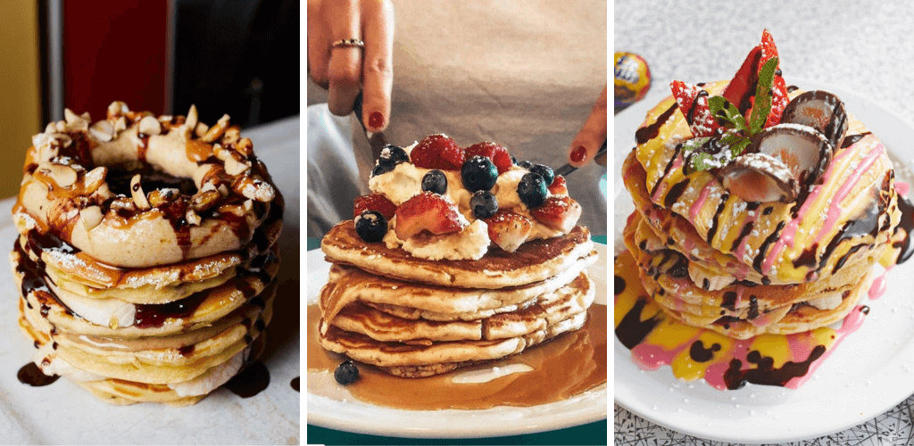 Pancake stacks at the Breakfast Club London