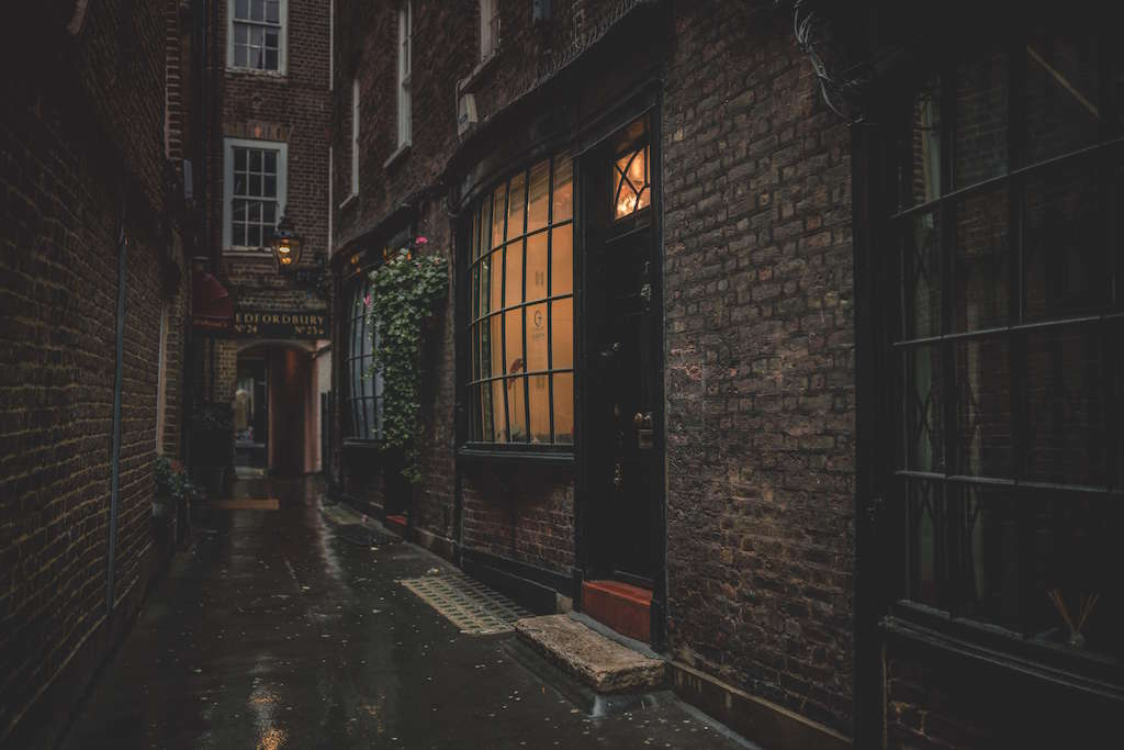Dark Harry Potter alley London