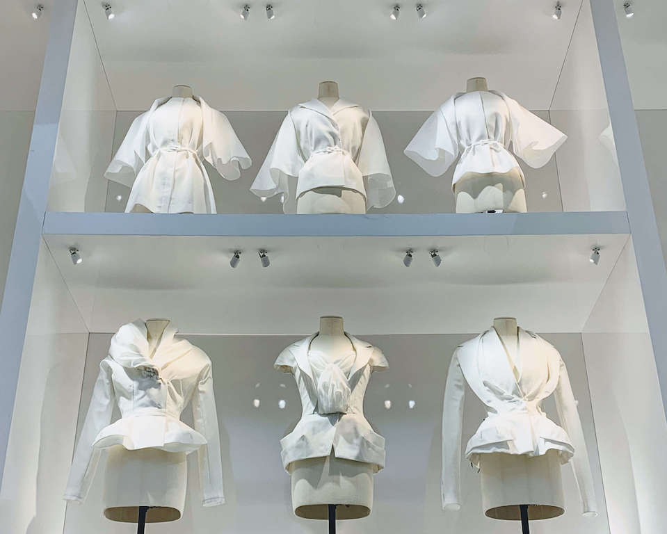 Fashion display at the V&A Museum in London